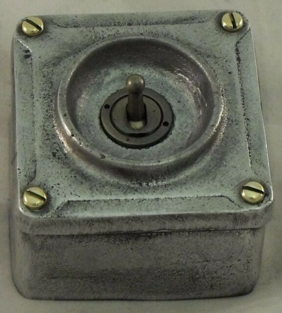 Cast Metal Vintage Industrial 1 Gang Light Switch - BS En Approved ...