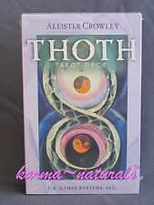 ALEISTER CROWLEY THOTH Tarot Card Deck Premier Edition - NEW Divination
