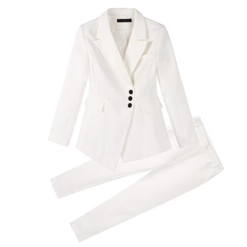 bavero 2 da matita bavero pezzi Tute pantaloni a giacca donna giacca Slim formale lungo qTTw1Caxg