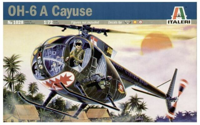 NEW ITALERI MODELS OH-6 A CAYUSE 1:72 KIT AIRCRAFTS HELICOPTER PLASTICS SCALE