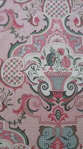 PIERRE FREY Louveciennes Groseilles printed cotton pink France new remnant