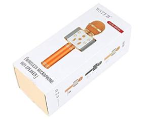 Microfono-wireless-hifi-Speaker-Gold-rose-wster-WS-858