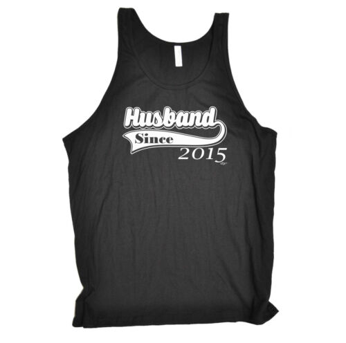 nice Funny Novelty Vest Singlet Top - 2015 Husband Since get discount