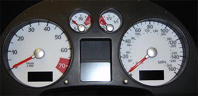 Dial Kit 8024 8N Lockwood Audi TT Mk1 1999-2006 KMH BLACK ST