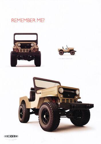 Classic Vintage Advertisement Ad PE100 2010 Toyota FJ Icon Jeep 2-sided