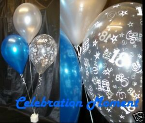 18TH BIRTHDAY Party Balloon Decoration Kit SILVERBLUE eBay