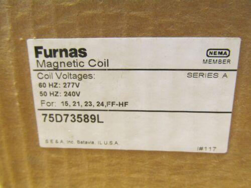 1 NIB FURNAS 75D73589L MAGNETIC COIL 50//60HZ 240//277V