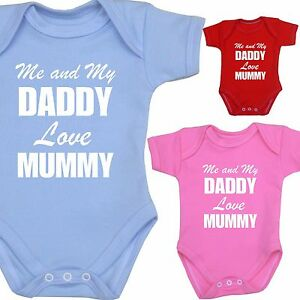 50c3f795b Babyprem Me Dad Love Mummy Bodysuit One Piece Vest Baby Clothes ...