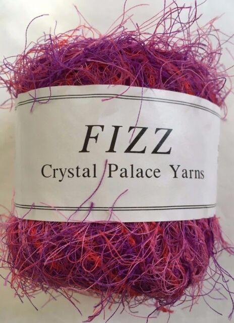 Purple Blue Wine 50g120yd Crystal Palace Fizz Eyelash Yarn #9153 Berry Parfait