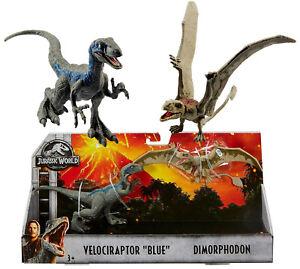 Jurassic-World-Park-Fallen-Kingdom-Dinosaur-2-Pk-Velociraptor-Blue-amp-Dimorphodon