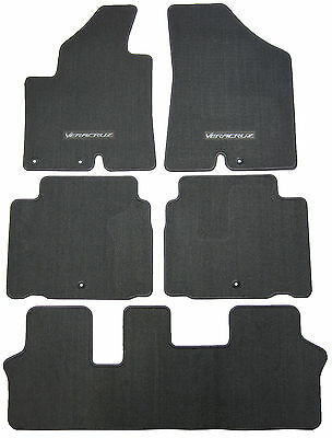 New Floor Mats Replacement Carpeted Floors Front Rear Set Veracruz Text. Grey