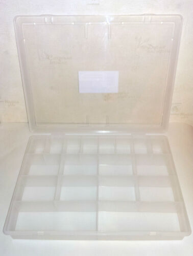 LARGE LOOMBAND STORAGE ORGANIZER BOX WITH 18 DIVISIONS HOBBIES,CRAFTS, /& DIY