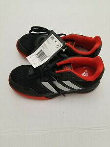 New-w-defect-Youth-Adidas-BA7422-AltaRun-Running-Shoes-Black-Red-Size-1-5