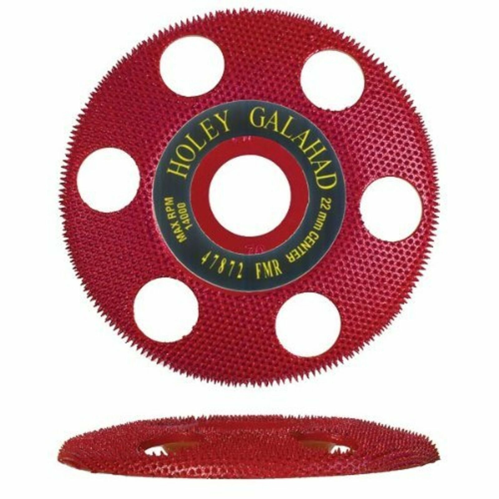 King Arthur S Tools Holey Galahad Flat Medium Red 70 Grit Disc For Sale Online Ebay