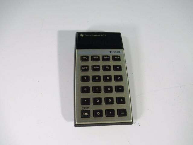 Vintage Texas Instruments TI-1025 Calculator Green LED Good  Shape