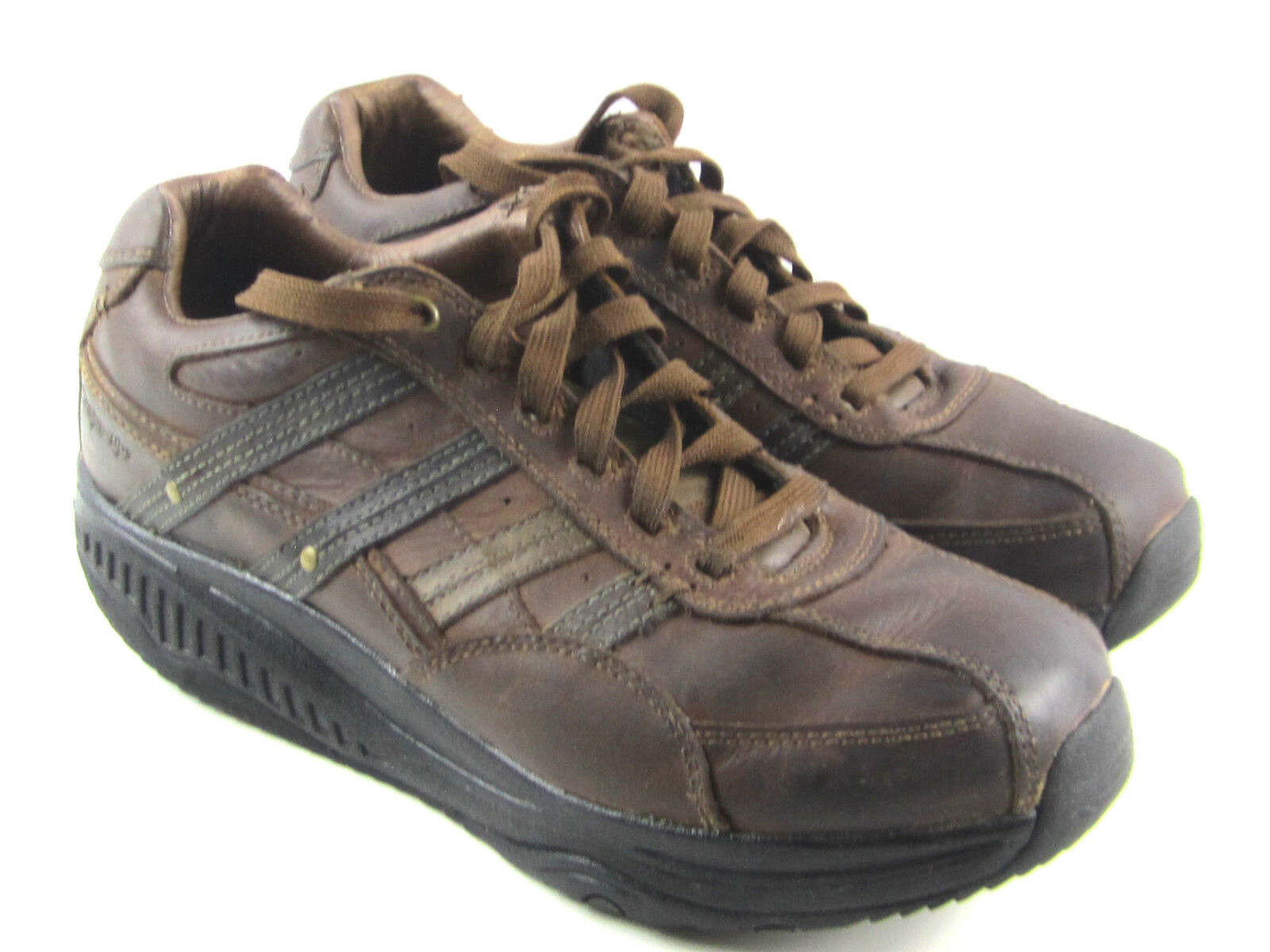 Skechers Shape Ups XT Mover Marrón con Cordones Tonificación Caminar Zapatos