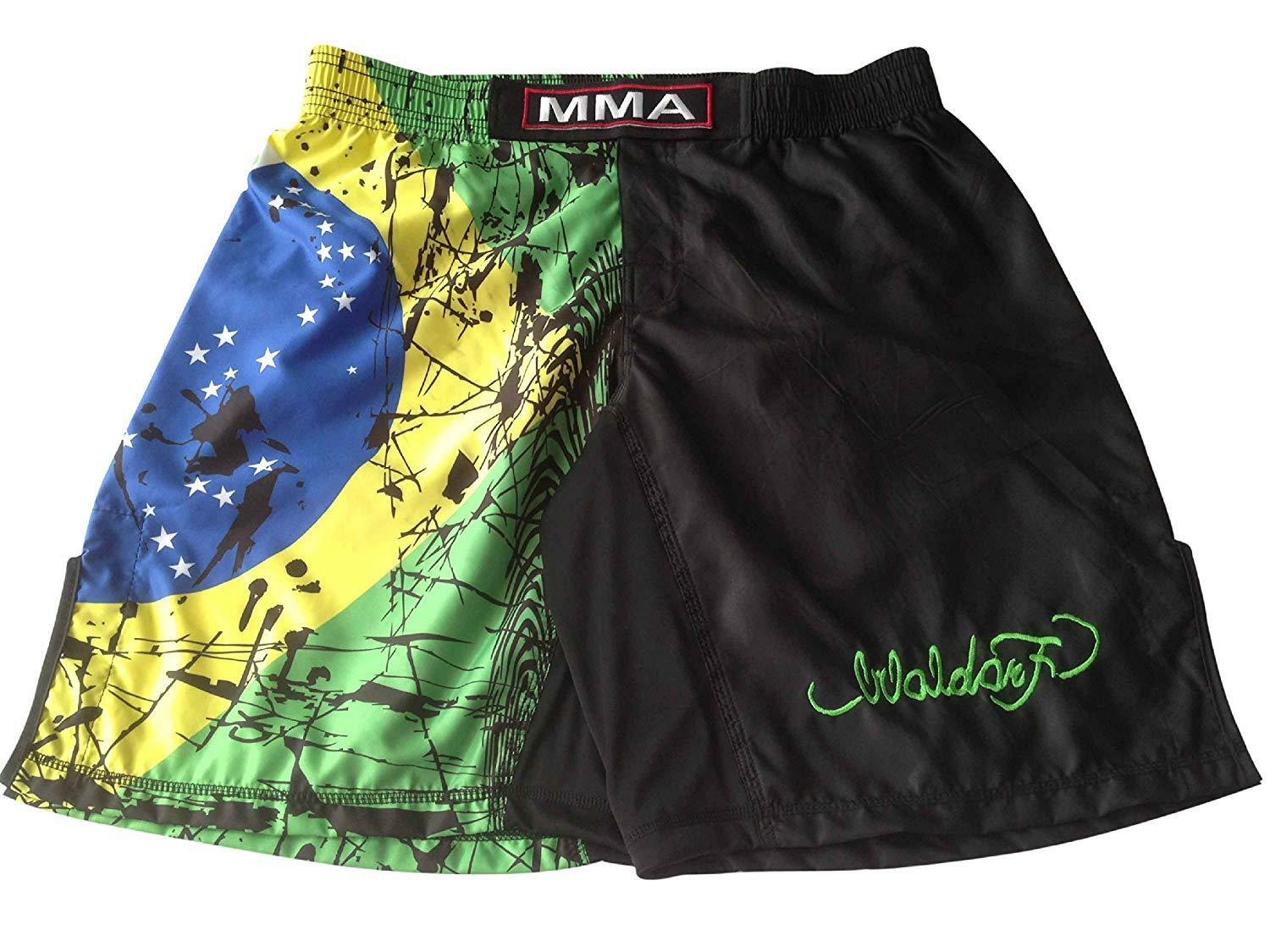 Woldorf USA MMA Shorts Polyester Brazilian  Flag design print style  exciting promotions