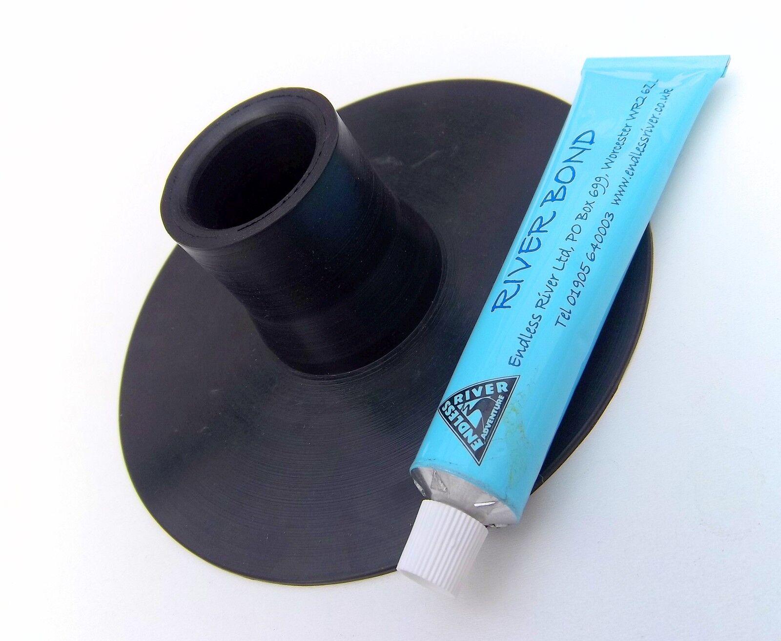 Canoe Solo Sailing Rubber Mast Foot + Glue  ENDLESS RIVER Mast Step
