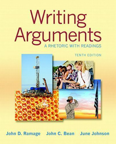 Writing arguments a rhetoric with readings by john c bean june writing arguments a rhetoric with readings by john c bean june johnson and john d ramage 2014 paperback ebay fandeluxe Image collections