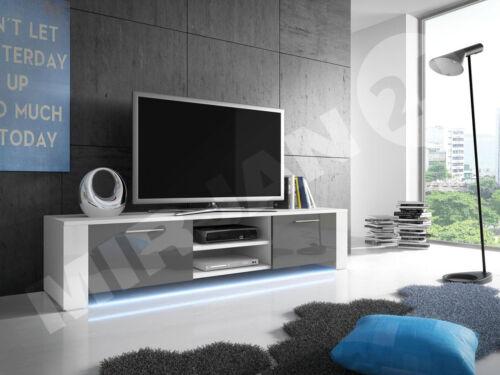 TV-Lowboard Fernsehtisch Niko 9 mit Beleuchtung TV-Schrank Sideboard TV-Tisch!