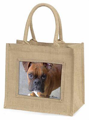 Roter Boxer Hund ' Liebe, die sie Mama 'Große natürliche jute-einkaufstasche