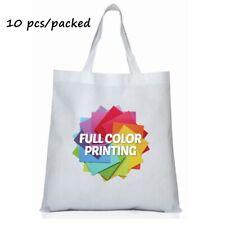 10pc38cmx40cm Blank Dye Sublimation Shopping Bag Large For Heat Press Machine