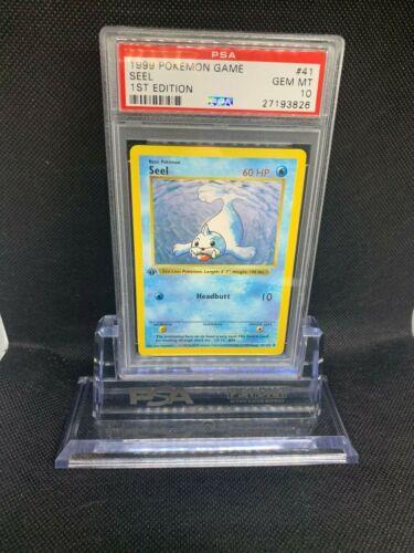 Pokemon Game Base Set 1st Edition seel 41 PSA 10 GEM MINT