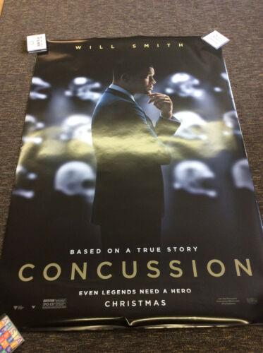 """Concussion Will Smith 48x70"""" Bus Stop Shelter large Double Sided poster Rare"""
