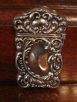 Antique American Sterling Silver Match Safe w/ Monogram