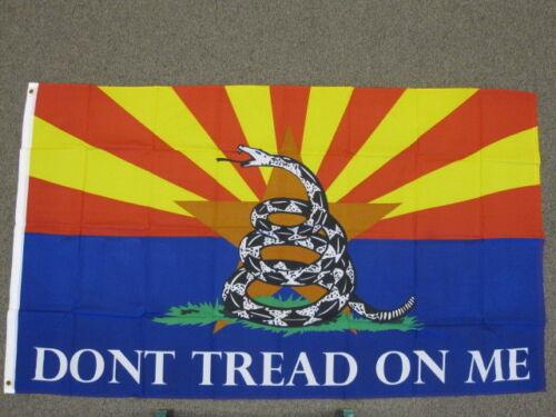 DON/'T TREAD ON ME FLAG 3X5 FEET BANNER SIGN ARIZONA GADSDEN 3/'X5/' NEW F575