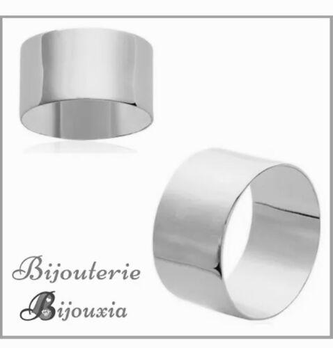 Bague Alliance épaisse Cylindre Argent Massif 925//1000  Bijoux MIXTE NEUF
