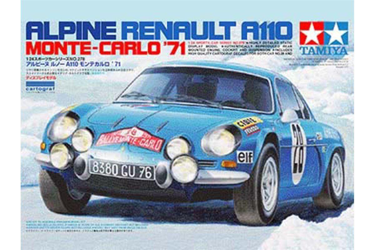 Tamiya 24278 Maquette 1 24 Renault Alpine A110 '71 - Monte Carlo