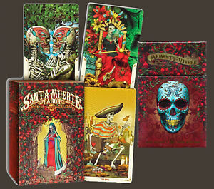 SANTA-MUERTE-TAROT-Book-of-the-Dead-by-Fabio-Listrani-2017-Flash-Cards-NEW