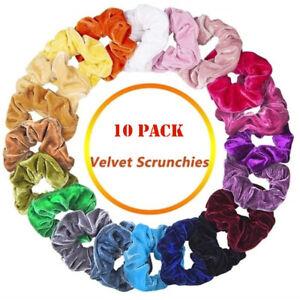 10-Pack-Velvet-Hair-Scrunchies-Hair-Ties-Elastic-Hair-Bands-Ropes-for-Women-Girl