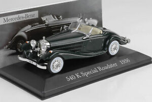 1936-Mercedes-Benz-W29-540-K-Special-Roadster-Green-1-43-ixo-altaya-Collection