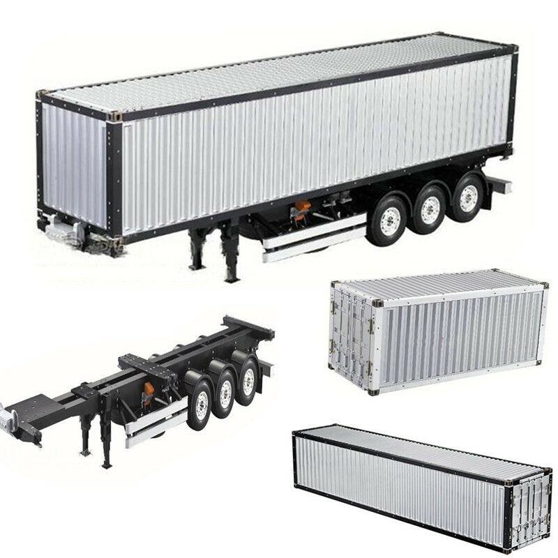 1 14 RC 20 40FT Alum Frame Container Kit For Tamiya Scania R620 Actros Trailer