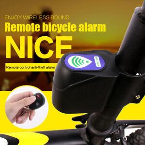 Wireless Alarm Lock Bicycles Bike Security System W// Remote Control Anti-Theft