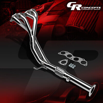 FOR 06-11 HONDA CIVIC SI K20 STAINLESS FLEX EXHAUST PIPE MANIFOLD TRI-Y HEADER