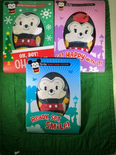 Hallmark Itty Bitty Disney Plush Lot of 3 Mickey Mouse Minnie Mouse itty bittys