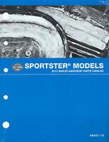 Harley-davidson 2013 Sportster Models Parts Catalog P/n 99451-13