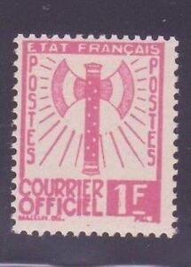 FRANCE-STAMP-TIMBRE-DE-SERVICE-N-6-034-FRANCISQUE-1F-ROSE-034-NEUF-xx-TTB-A014A