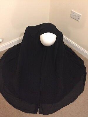 3 Strati In Chiffon Hijab Khimar Lungo Grande Ramadhan Eid Muslim Islamica Wear-mostra Il Titolo Originale Elevato Standard Di Qualità E Igiene