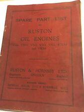 Ruston MARK VWO VYO VTO VSO VTOM & VSOM OIL ENGINE illustrated parts manual