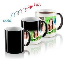 PERSONALIZED COLOR CHANGING MAGIC MUG BLACK COFFEE PHOTO PICTURE CUSTOMISED