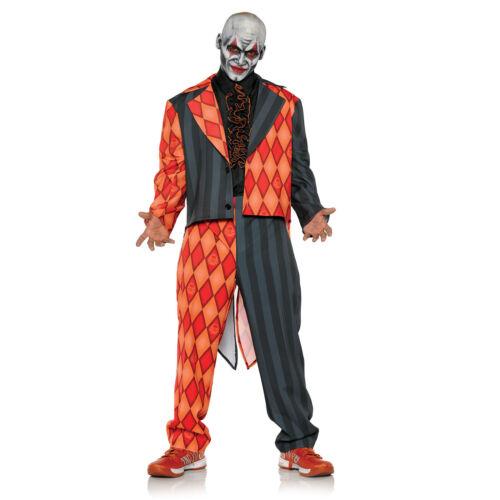 Thriller Evil Killer Clown Argyle Orange Tuxedo Halloween Costume Adult Std-XXL