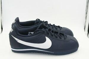 more photos 2f65a 898dd Details about Nike Cortez Nylon GS Grade School Size 7Y = Womens Size 8.5  Navy Blue White