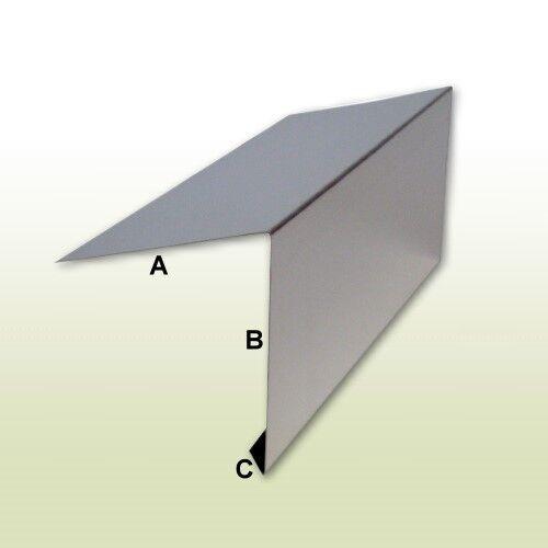 1 Meter Dachrandprofil aus Aluminium Zuschnitt 250 mm Länge
