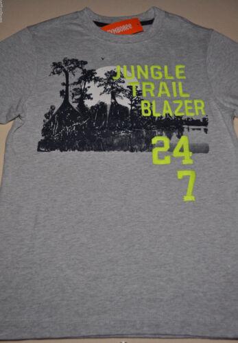 Gymboree boy jungle trail blazer tee shirt size 5 NWT top boys gray embroidered
