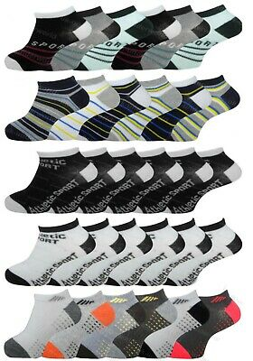 5 pairs of Boys Plain Trainer socks