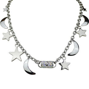 Kirks-Folly-Charming-Moon-And-Star-Magnetic-Interchangeable-Necklace-Silvertone
